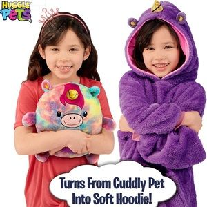 Huggle Pets Rainbow Unicorn Animal Hoodie